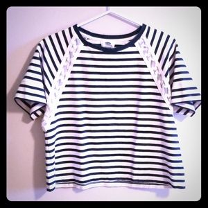 Old navy top navy striped top